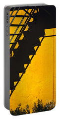 Portable Battery Charger featuring the photograph Staircase Shadow by Silvia Ganora
