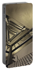 Portable Battery Charger featuring the photograph Stairing Up The Spinnaker Tower by Terri Waters
