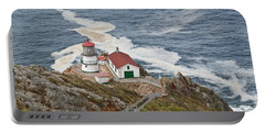 Portable Battery Charger featuring the photograph Stairway Leading To Point Reyes Lighthouse by Jeff Goulden