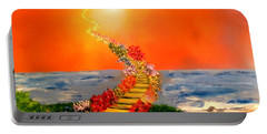 Portable Battery Charger featuring the painting Stairway To Heaven by Michael Rucker