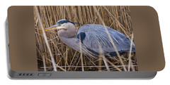 Stalking Fish In The Reeds Portable Battery Charger