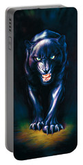 Stalking Panther Portable Battery Charger by Andrew Farley