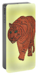 Stalking Tiger Portable Battery Charger by Tracey Williams