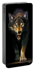 Stalking Wolf Portable Battery Charger by MGL Studio - Chris Hiett