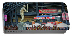 Stan Musial Statue At Busch Stadium St Louis Mo Portable Battery Charger by Greg Kluempers