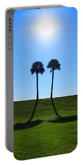 Stand By Me - Palm Tree Art By Sharon Cummings Portable Battery Charger