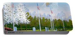 Standing Guard Over Veterans Park Portable Battery Charger