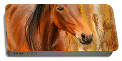 Standing Regally- Bay Horse Paintings Portable Battery Charger