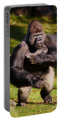 Standing Silverback Gorilla Portable Battery Charger
