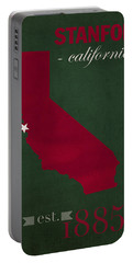 Stanford University Cardinal Stanford California College Town State Map Poster Series No 100 Portable Battery Charger by Design Turnpike