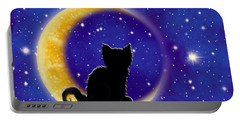 Star Gazing Cat Portable Battery Charger
