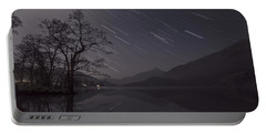 Star Trails Over Lake Portable Battery Charger