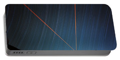 Star Trails Over Mauna Kea Observatory Portable Battery Charger