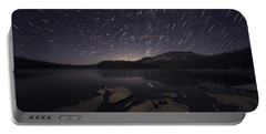 Star Trails Over Silver Lake Resort Portable Battery Charger