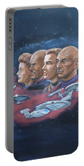 Star Trek Tribute Captains Portable Battery Charger by Bryan Bustard