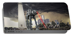 Portable Battery Charger featuring the photograph Star Wars All Terrain Armored Transport by Nicholas  Grunas