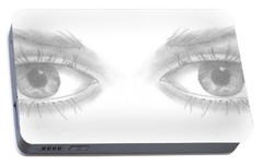 Portable Battery Charger featuring the drawing Stare by Terry Frederick
