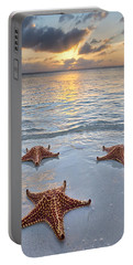 Portable Battery Charger featuring the photograph Starfish Beach Sunset by Adam Romanowicz