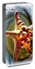 Portable Battery Charger featuring the digital art Starfish by Daniel Janda