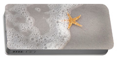 Starfish In The Surf Portable Battery Charger