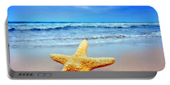 Starfish On A Beach   Portable Battery Charger