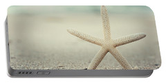 Starfish On Beach Vintage Seaside New Jersey  Portable Battery Charger by Terry DeLuco