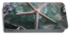 Starfish With Sea Glass Portable Battery Charger by The Art of Alice Terrill
