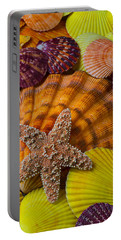Starfish With Seashells Portable Battery Charger