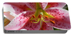 Stargazer Lily Portable Battery Charger by Barbara Griffin