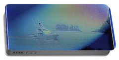 Portable Battery Charger featuring the digital art Starlight Cruising by Victoria Harrington