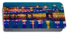 Starry Night At Nationals Park Portable Battery Charger by Jerry Gammon
