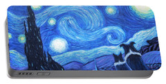 Starry Night Border Collies Portable Battery Charger