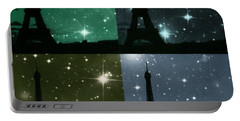 Starry Night - Eiifel Tower Paris Portable Battery Charger