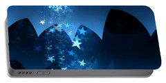 Portable Battery Charger featuring the digital art Starry Night by GJ Blackman