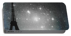 Starry Night In Paris - Eiffel Tower Photography  Portable Battery Charger