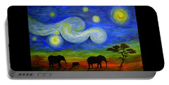 Starry Night Over Africa Portable Battery Charger