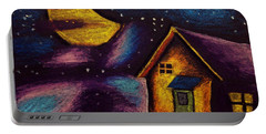 Starry Night Portable Battery Charger by Salman Ravish