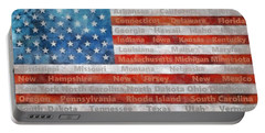 Stars And Stripes With States Portable Battery Charger