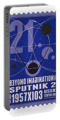 Starschips 21- Poststamp - Sputnik 2 Portable Battery Charger by Chungkong Art