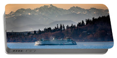 State Ferry And The Olympics Portable Battery Charger