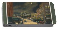 State Street Bristol Va Tn At Night Portable Battery Charger