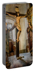 Portable Battery Charger featuring the photograph Statue Of Jesus by Adrian Evans