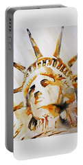 Statue Of Liberty Closeup Portable Battery Charger