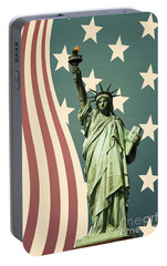 Statue Of Liberty Portable Battery Charger by Juli Scalzi