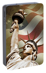 Statue Of Liberty Portable Battery Charger by Mark Rogan