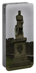 Statue Of Robert The Bruce On The Castle Esplanade At Stirling Castle Portable Battery Charger