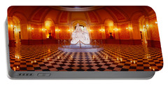 Statue Surrounded By A Railing Portable Battery Charger by Panoramic Images