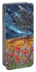 Portable Battery Charger featuring the painting Steadfast Love by Meaghan Troup