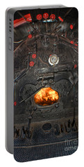 Portable Battery Charger featuring the photograph Steam Locomotive Fire Tube Firebox by Gary Keesler