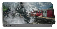 Steam Train Portable Battery Charger by Hanny Heim
